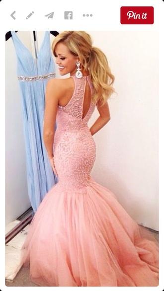 dress pink dress prom dress long prom dress long dress blonde hair