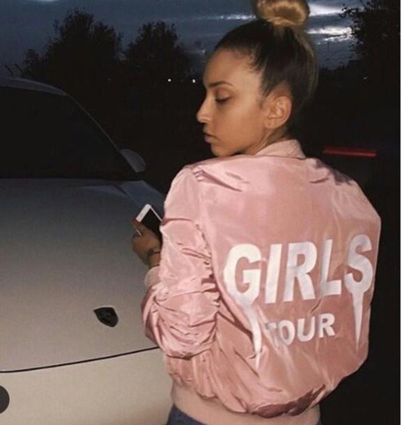 ordinary Girlstumblr Part - 8: jacket girl girly girly wishlist tumblr pink girls tour instagram pink  bomber jacket bomber jacket