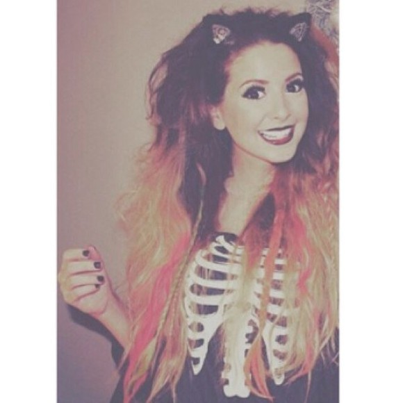 bones halloween white bone cute shirt black grunge soft grunge zoella