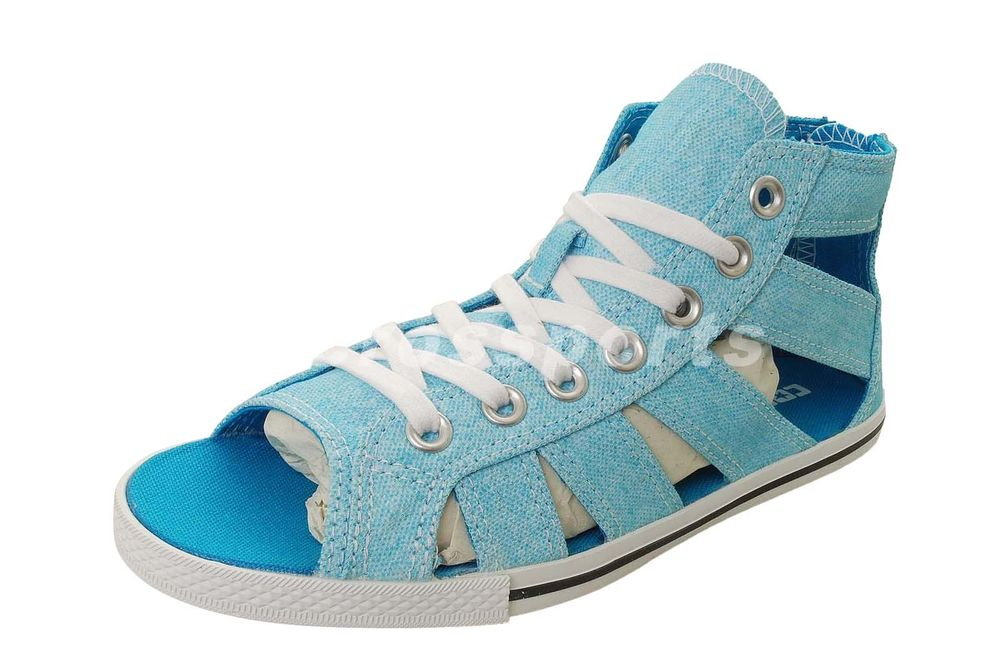 Converse Chuck Taylor All Star Gladiator Mid Blue Womens Sandals Shoes 537062C | eBay