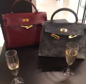 bag,suede,grey,chic,boho,saint laurent,leather