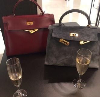bag suede grey classy boho yves saint laurent leather