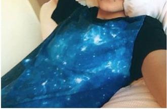 shirt blue black galaxy