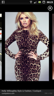 dress,holly willoughby,bodycon,long sleeves,leopard print
