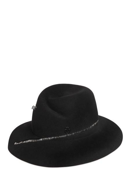 MAISON MICHEL Zip Around Rabbit Fur Felt Hat in black