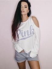 blouse,girly,girl,girly wishlist,white,white top,white shirt,vspink