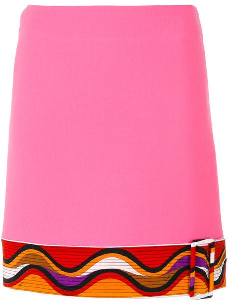 Emilio Pucci skirt mini skirt mini women spandex silk wool purple pink