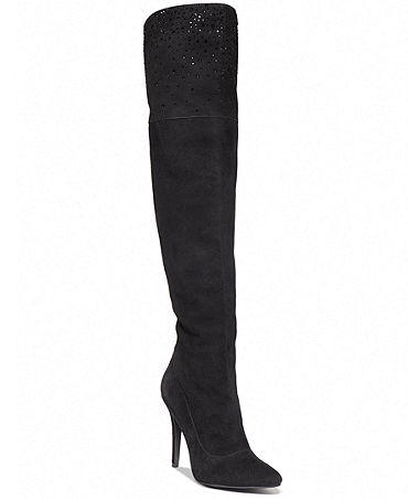 ABS by Allen Schwartz Mareah High Heel Over The Knee Dress Boots - Shoes - Macy's