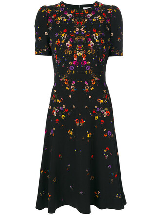 dress women spandex tea black silk
