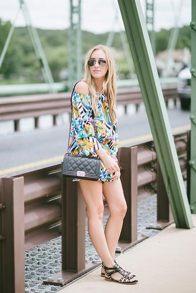 shoes romper blogger jewels bag eat sleep wear