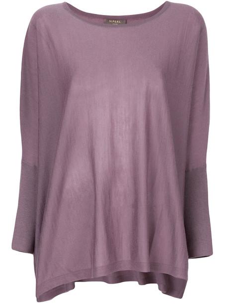 N.Peal poncho women purple pink top