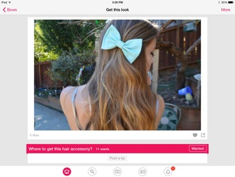 hair accessory mint bow bandeau hair bow