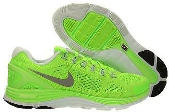sports shoes 96b9c 9d1ca New Nike Lunarglide 4 iPod Running Mens Electric Green Neon $120 | eBay