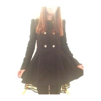 coat cute coat black coat peacoat dress