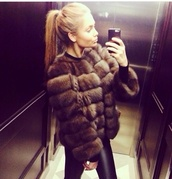 jacket,fur,real fur