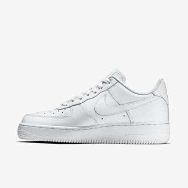 white nike leather