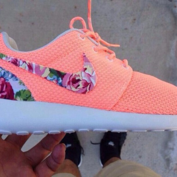 Nike Coral Floral Running Shoes