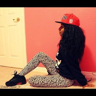 leggings cheetah print cheetah black white chanel michael kors