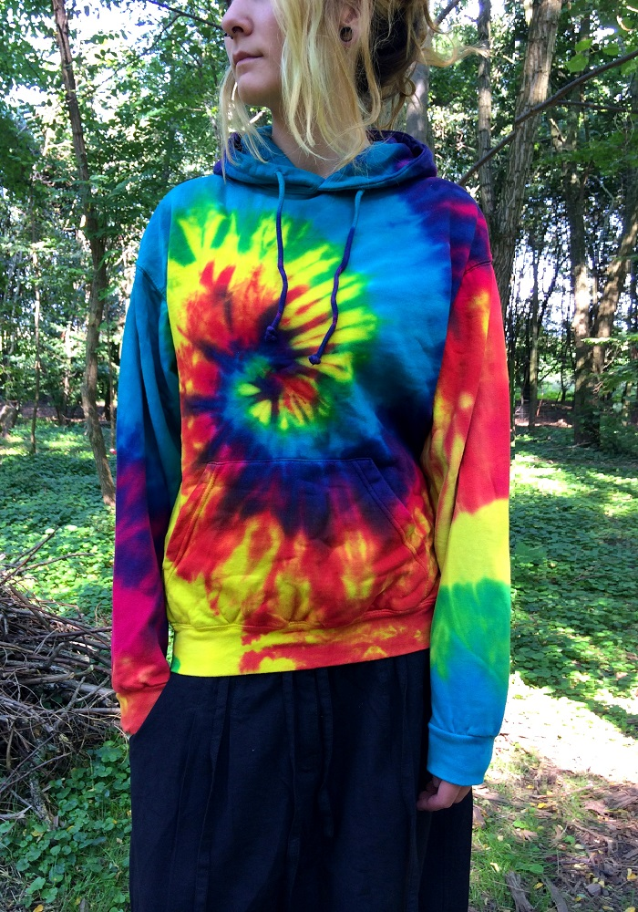 moot moot rainbow batik hoodie. Black Bedroom Furniture Sets. Home Design Ideas