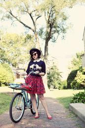 keiko lynn,sweater,dress,hat,sunglasses,bag,horse,floral