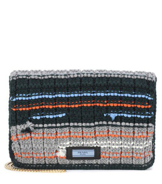 Prada clutch wool bag