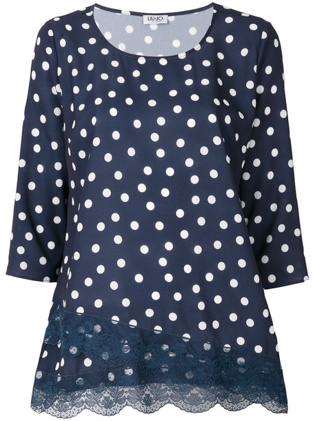 blouse women spandex blue top