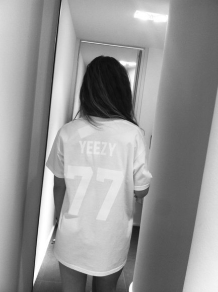 yeezy jersey kanye west shirt kanye west long shirt t-shirt tshirt, shirt, yeezy, 77 kardashians yeezy, 77, white, kanyewest, t-shirt