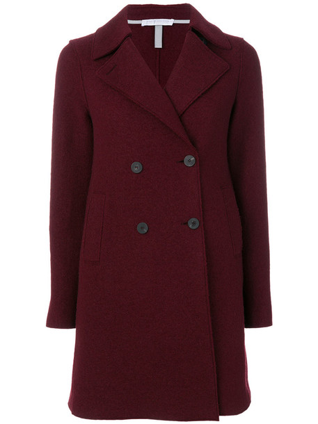 HARRIS WHARF LONDON women classic wool red coat