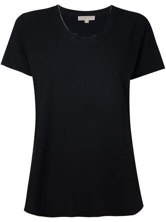 t-shirt shirt women spandex black top
