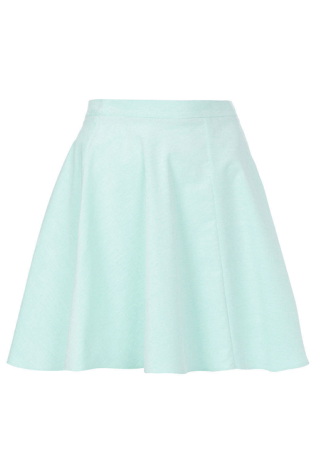 Mint Baby Cord Skater Skirt - Skirts - Clothing - Topshop on Wanelo
