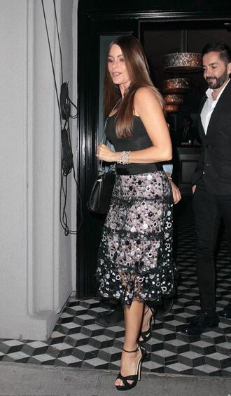 skirt midi skirt sandals top sofia vergara