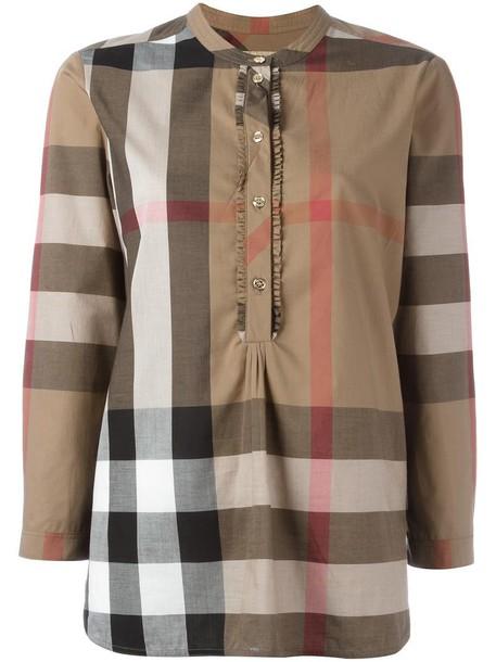 Burberry shirt women nude cotton print top