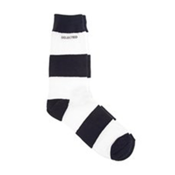 socks white black stripes