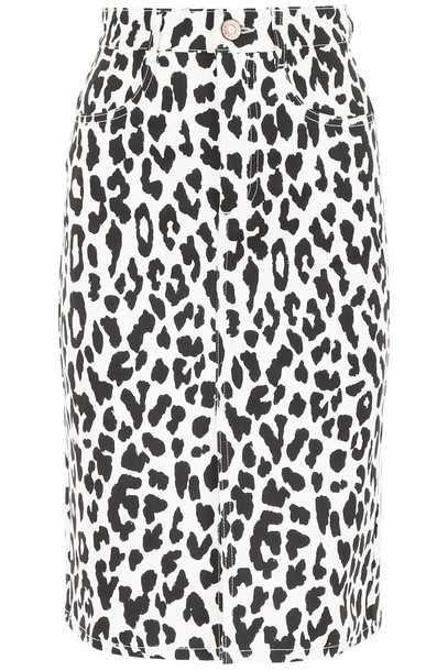 See by Chloé See by Chloé Leopard-printed Skirt in black / white