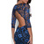 Blue Party Dress - Backless Lace Dress | UsTrendy