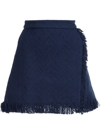 skirt women cotton blue