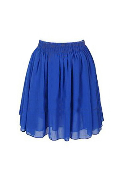 Chiffon Short Skirt - Royal Blue