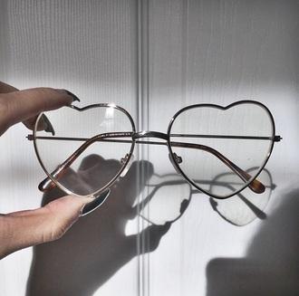 sunglasses heart clear glasses