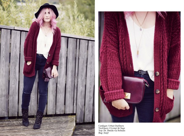 like a riot blogger cardigan jewels top bag shoes