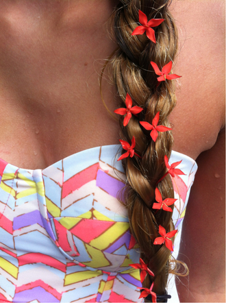 shirt bustier corset bralette geometric sweetheart neckline corset top bra top jewels swimwear tribal pattern print aztec colorful pastel cute