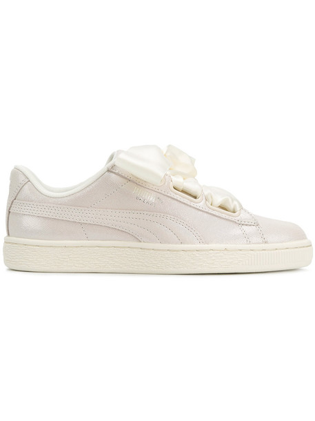 puma women sneakers lace leather white shoes