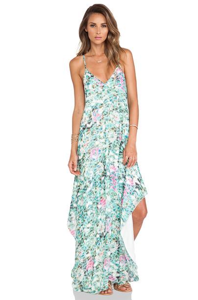 Lovers + Friends dress slip dress mint