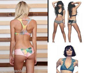 BNWT Lolli Swim Bow Heart Cutout Swimwear Bikinis Top Bottom Bikini Separates   eBay