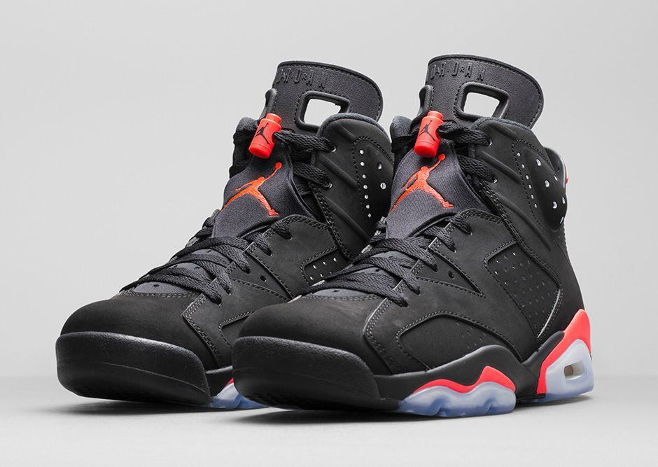 Air jordan 6 retro vi black infrared 23 384664