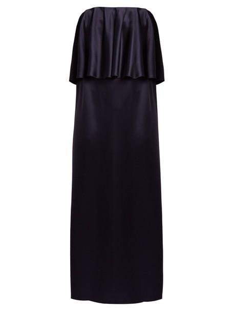 Osman gown strapless satin navy dress
