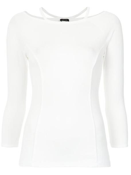 blouse women spandex white top