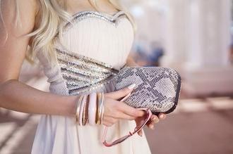 gold dress white dress glitter rhinestones cream dress cream dress with sequins sequin dress sweetheart dresses bustier dress cream dress with sequins sparkles sleeveless prom dress