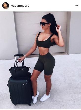 bag airplane suitcase