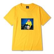 t-shirt,lil peep,lilpeep,beamerboy,sadboy,rap,yellow,mustard,yellow t-shirt,lil peep tshirt,tumblr,grunge,grunge t-shirt,fashion,soft grunge,emo