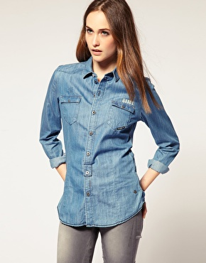 Jean chemise femme